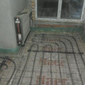 Установка радиатора и монтаж теплого пола