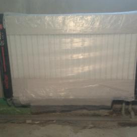 монтаж стального радиатора с нижним подключением